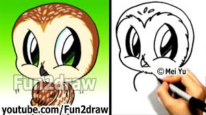 how to draw a cartoon owl how to draw birds easy fun2draw