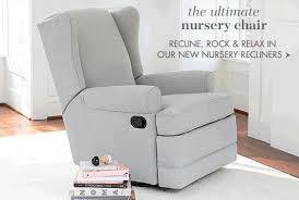 Glider Recliner With Ottoman For Nursery Recliner Glider Chair Nursery Visionexchange Co