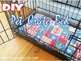 Dog Crate Covers Diy Pet Crate Bed Made From A Flannel Pillow Cover And A Strip Of