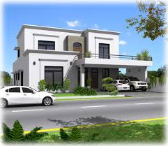 3d front elevation com contemporary house plans