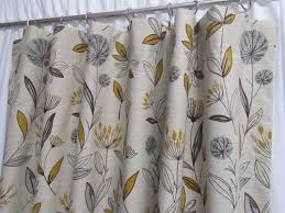 Botanical Shower Curtains Grey And Mustard Yellow Curtains Best Of Retro Floral Curtains