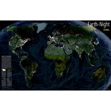 earth at night wall map national geographic store