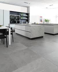 concrete look tiles rodano silver industrial kitchen perth