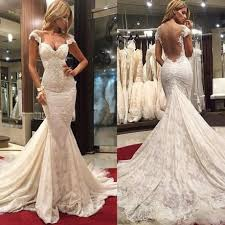 mermaid wedding dress buy gentle sweetheart backless sleeveless ruched court lace