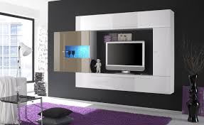 Wall Mounted Living Room Furniture Unique White Acrylic Wall Mounted Tv Cabinetry Hang On Grey