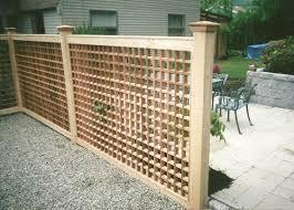 wood lattice wall wood vinyl lattice fence variations boston ma homes