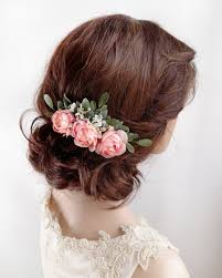 floral hair accessories bridal hair comb pink hair clip floral hair accessories