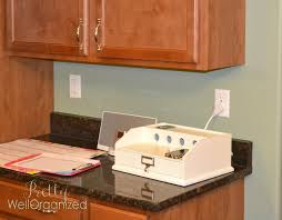 charging station organizer cushty project kitchen information center reveal well organized