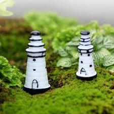 Lighthouse Garden Decor Mini Cute Resin Solid Lighthouse Ornaments Micro Landscape