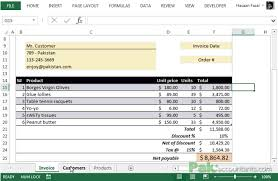 Customer Management Excel Template Free Excel Invoice Template V1 0 With Customer And Product List