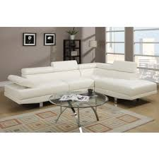 Cheap White Leather Sectional Sofa Pomorie White Faux Leather Sectional Sofa Set Free Shipping