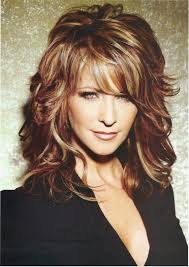 medium length layered hairstyles round faces over 50 brown layered hair with blonde highlights on the fashion time