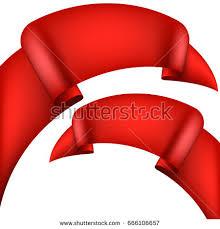 realistic decorative ribbon banners stripe stock vector