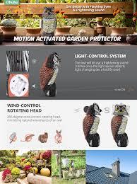 amazon com ohuhu horned owl decoy with tweet light control