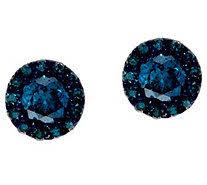 blue diamond stud earrings chagne diamond stud earrings 14k 9 10 cttw by affinity