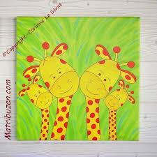 tableau deco chambre enfant tableau chambre enfant animaux de la savane jungle la famille