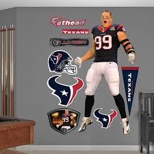 amazon com nfl texans j j watt entrance wall graphics