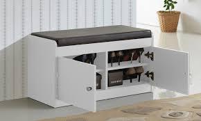 Two Door Storage Cabinet 35 Off On 2 Door Shoe Cabinet With Bench Groupon Goods