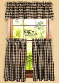 Black Check Curtains Teadyed Buffalo Check Curtain Valances
