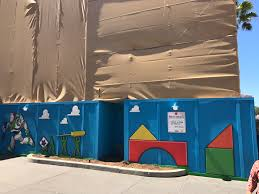 photos video toy story land entrance coaster track and star toy story land construction disney s hollywood studios
