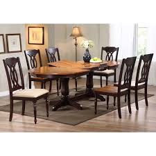 gatsby oval dining table double butterfly leaf whiskey u0026 mocha