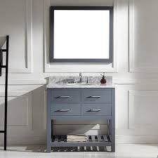 Bathroom Vanities 36 Inch White 36 Inch Italian Carrara White Marble Single Sink Bathroom Vanity