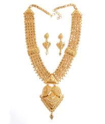 gold har set nishugold gold plated chandan har set buy nishugold gold