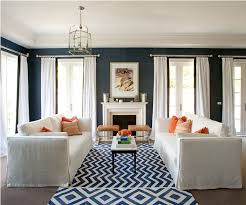 Orange Curtains For Living Room Trend Alert Navy U0026 Orange Home Stories A To Z