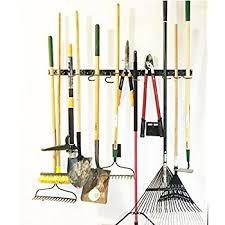 amazon com anybest wall mounted garden tool rack storage