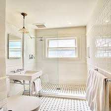 white tile bathroom designs white tile and colored floor white subway