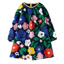 Baby Girls Dresses Long Sleeve 2018 Brand Autumn Children Christmas