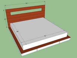 Bed Frame With Storage Plans Bed Frame Build Your Own King Size Platform Bed With Drawers