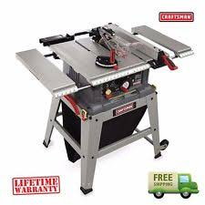 craftsman 10 portable table saw craftsman table saw ebay