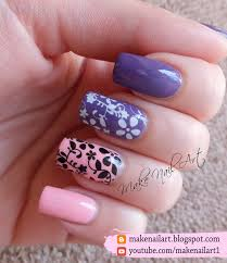 make nail art floral water decals nail art design tutorial