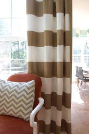 Brown And White Striped Curtains Horizontal Striped Curtains I Think Is What I M Going To