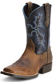 ariat s boots size 12 childrens tombstone square toe cowboy boots earth black