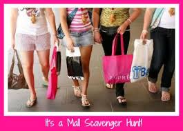 mall scavenger hunt party ideas