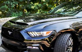 All Black Mustang For Sale 2015 2017 Mustang Black Mamba Gts Ram Air Heat Extractor Hood