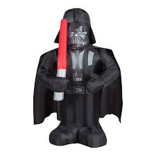 Home Depot Inflatable Outdoor Christmas Decorations Shop 3 Ft 6 In X 1 Ft 8 8 In Lighted Star Wars Darth Vader