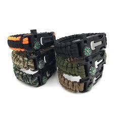 fire cord bracelet images Men 39 s paracord survival bracelet kits 550 parachute cord wristband jpg