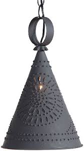 Punched Tin Pendant Light Pennycress Punched Tin Pendant With Textured Black Finish House