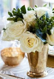 White Roses Centerpiece by Vase Of White Roses Centerpiece Garden Flowers Houseplants