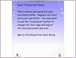 christmas letter examples proposal forms templates