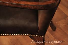 Leather Upholstery Chair Leather Upholstered Dining Room Arm Chairs With Queen Anne Feet
