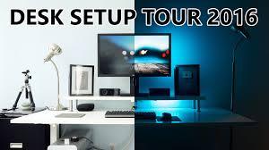 Office Desk Set Up Office Desk Setup Tour 2016