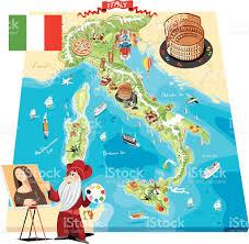 Maps Of Italy Cartoon Map Of Italy Stock Vector Art 472284251 Istock