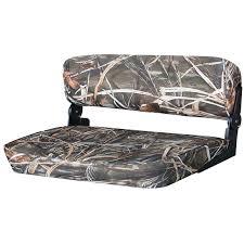 wise folding duck boat bench seat mossy oak break up 219584