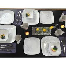 corelle squares jacaranda 32 dinnerware value bundle