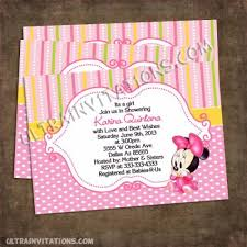 minnie mouse baby shower invitations minnie baby shower invitations personalized invites
