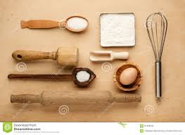 Wooden Kitchen Table Background Rural Kitchen Utensils On Wooden Table From Above Rustic